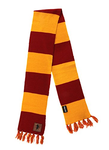 elope Harry Potter Gryffindor Patch Striped Scarf ... (Scarves Striped Knit Sweater)