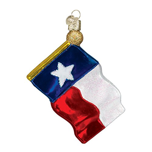 Old World Christmas Ornaments: Texas State Flag Glass Blown Ornaments for Christmas Tree (36045)