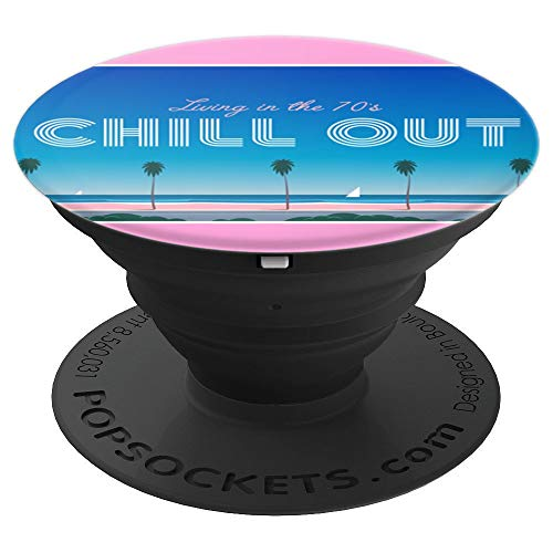 Living in the 70's Chill Out Miami Vice Style Socket - PopSockets Grip and Stand for Phones and Tablets -