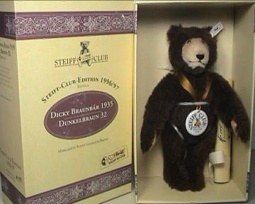 Steiff Club Bear Dicky 1935 Replica -1996/1997, 420078, used for sale  Delivered anywhere in USA