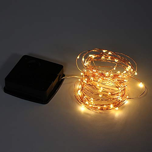 Elevin(TM)  10M 100Lights Outdoor Solar Powered Copper Wire Light String Fairy Party Decor