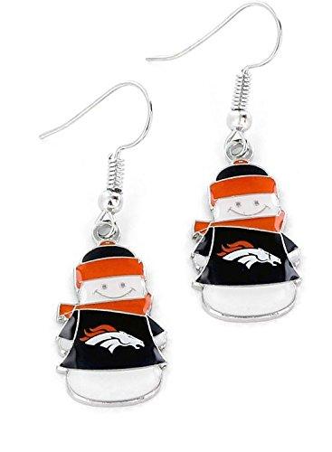 NFL Denver Broncos Snowman Earrings