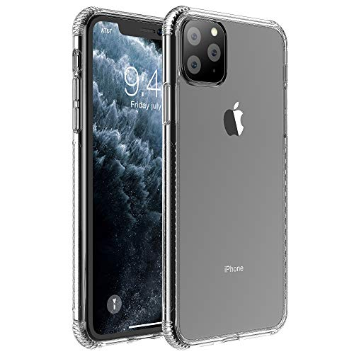 SKYGRAND for iPhone 11 Pro Max Case Clear 6.5 inch,Clear Case with Soft TPU Bumper [Slim Thin] Protective Phone Case for Apple iPhone 11 Pro 2019, Crystal Clear(Wireless Charger Compatible)