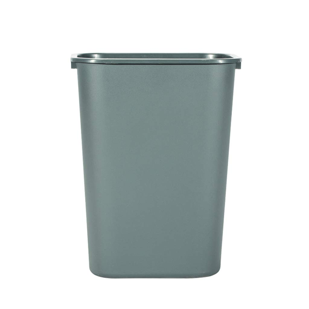 CSQ Plastic Trash Can, Trash Can Without Lid, Hotel Office Household Trash Can 24L/35L Indoor