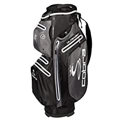 Cobra Ultradry cart bag (4.6 lbs) is the perfect bag to keep all your Golfing necessities dry and secure on course Featuring 7 waterproof seam sealed pockets, a 15-way top with designated full-length Club dividers and external putter Port, Du...