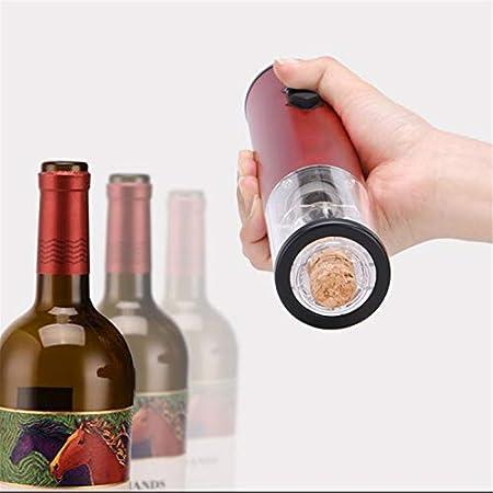 LQG Abrebotellas eléctrico, inalámbrico, Visible, sacacorchos, Juego de abridor de Vino con Cortador de Papel de Aluminio, para Citas, Fiestas y Amantes del Vino,Gris