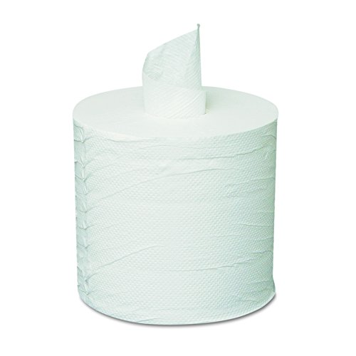General Supply 203 Centerpull Towels, 2-Ply, White (Case of 6 Rolls) (Pull Dispenser)
