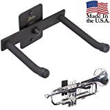 String Swing Horizontal Trumpet Holder - Stand for all Trumpets Including Piccolo and Pocket Trumpet- Stand Accessories Home or Studio Wall - Musical Instruments Safe without Hard Cases - Made in USA
