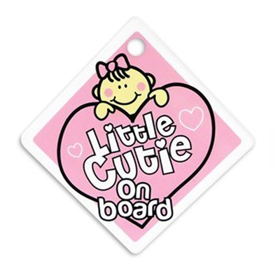 Baby Car Sign Little Cutie with Suction Pad to Stick