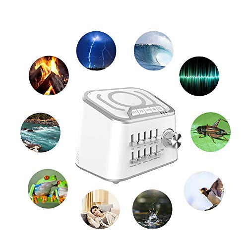 Sleep Machine, KKmoon Sleep Machine BT 3.0 HiFi Sound Speaker 3 Kinds Time Setting Baby Comfort Machine Sleep Quality Enhancer 10 Natural Sounds Optional ()