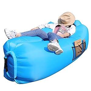 AngLink Luftsofa, 2021 Neu Kissenentwurf Wasserdichtes Aufblasbares Sofa Air Lounger mit 2 Lufteinlass Laybag Outdoor…