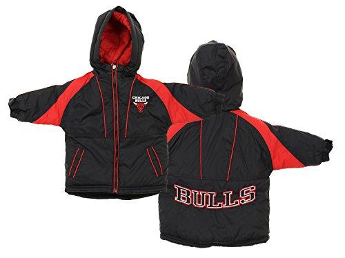 Chicago Bulls NBA Baby Boys Infant Hooded Heavy Weight Parka Jacket, Black