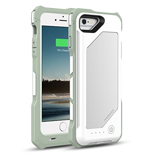 MoKo iPhone 7/6s/6 Battery Case - Portable 3500mAh Brushed Protective Charger Charging Case with Removable/Rechargeable Power Cover for iPhone 7/6s/6 4.7