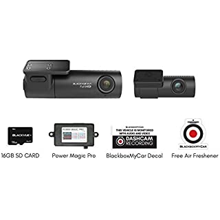 Discount DR590W 2CH 1080P FHD/FHD Front/Rear Dash Cam with 16GB Micro SD Card and Power Magic Pro Hardwire Kit
