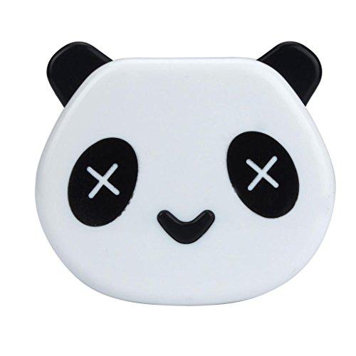 Lens Order Contact (XUANOU Cute Contact Lens Case Cartoon Panda Shape Candy Color Box With Mirror)