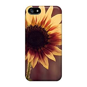 Anti-scratch And Shatterproof A Yellow Flower Phone Case For Iphone 5/5s/ High Quality Tpu Case