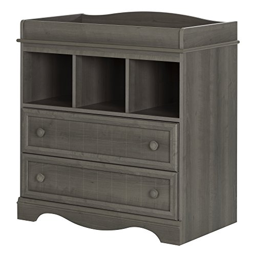 (South Shore Savannah Changing Table with Drawers, Gray)