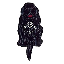 Newfoundland Dog Wagging Tail Pendulum Clock