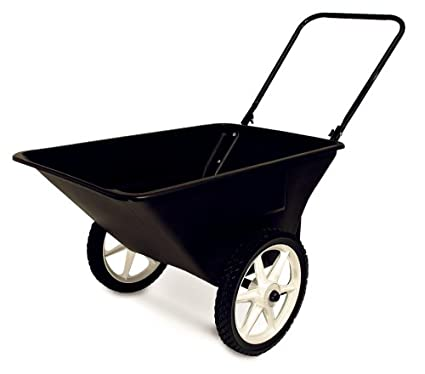 Precision Products 5 1/2 Cubic Foot Garden Yard Cart With Spoked Wheels