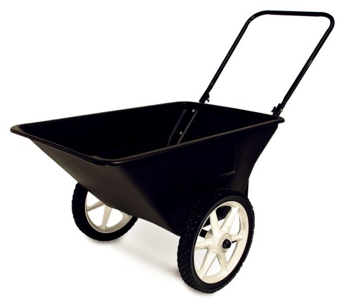 Precision Products 5-1/2-Cubic Foot Garden Yard Cart with Spoked Wheels LC-150-14 (Discontinued by Manufacturer)