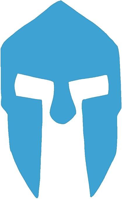 hBARSCI - Calcomanía de vinilo para casco espartano, para coches, camiones, ventanas, ordenadores portátiles, tabletas, vinilo de 2,5 mil de grosor para exteriores, varios tamaños y colores disponibles: Amazon.es: Coche y moto