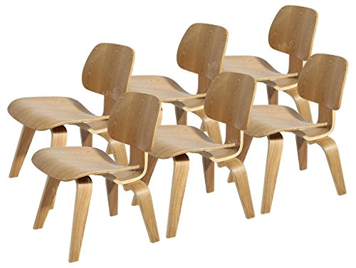 MLF® Eames Molded Plywood Lounge Chair (Natural)(Set of 6)