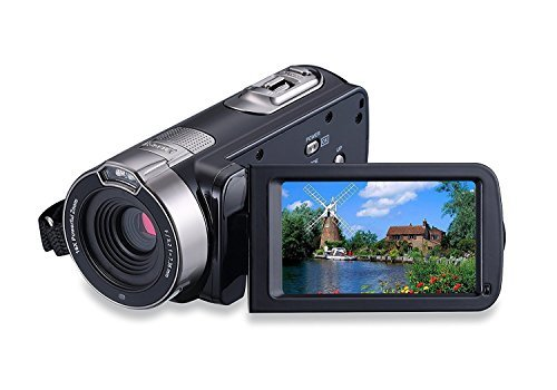 KINGEAR HDV-301 24MP HD 1080P 2.7″ LCD Touch Screen Digital Video Camcorder with 16x Digital Zoom 270°Rotation (Black)