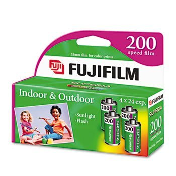Fuji® Superia 35mm Color Film FILM,35MM,24X,200,4PK 16200 (Pack of8) by FUJI ENVIROMAX