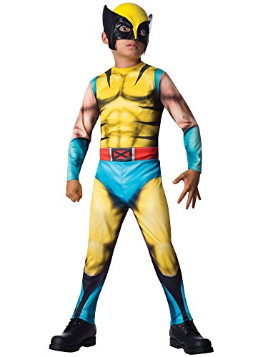 Rubies Marvel Universe Classic Collection Wolverine Costume, Child (Raven Superhero Costume For Kids)