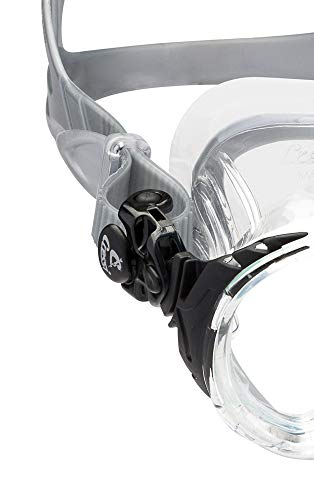 Cressi Adult Small Inner Volume Scuba Diving mask Made in The Revolutionary Crystal Silicone | Eyes Evolution Crystal