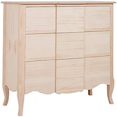 Muebles Natural – Cómoda con 3 amplios cajones con saliente, en ...