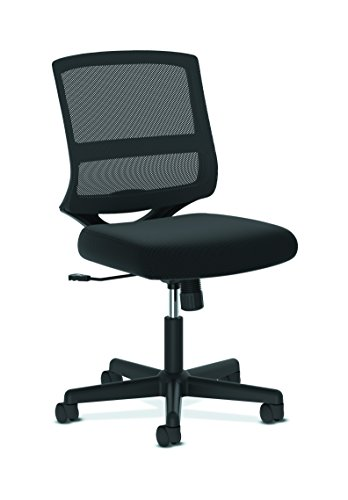 HON ValuTask Mid-Back Mesh Task Chair, Armless Black Mesh Computer Chair