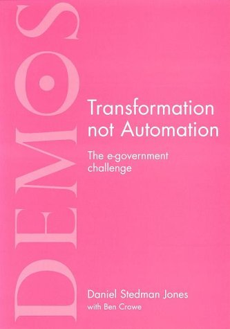 Transformation Not Automation: The Environment Challenge