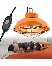 Lampa grzewcza dla szczenit, Halogenowa lampa grzewcza do hodowli, Lampa grzewcza lgowa z 2 biegami, regulowana temperatura, temperatura 150W-350W, utrzymuj zwierzta cieple