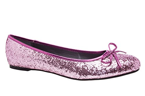 Andres Machado.TG104.Ballerines Classiques.Pour Femmes.Grandes Pointures du 42 au 46… GlitterRose.