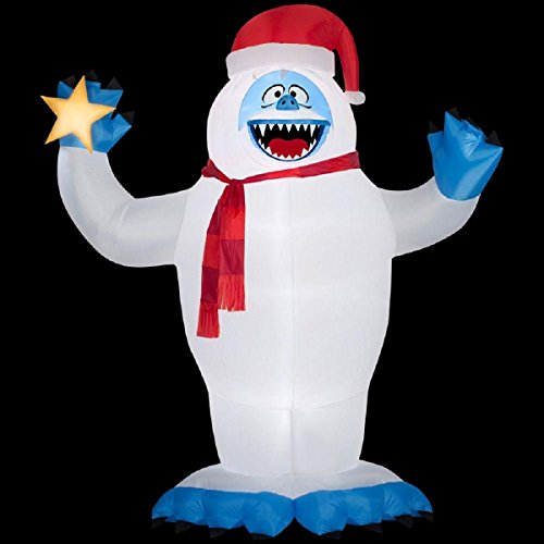 118.90 in. D x 74.80 in. W x 144.09 in. H Inflatable Bumble with Santa Hat by Rudolph (Image #1)