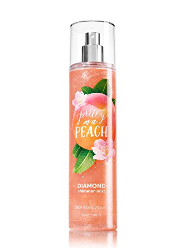 (Bath and Body Works Pretty As A Peach Diamond Shimmer Mist Spray 8 Ounce)