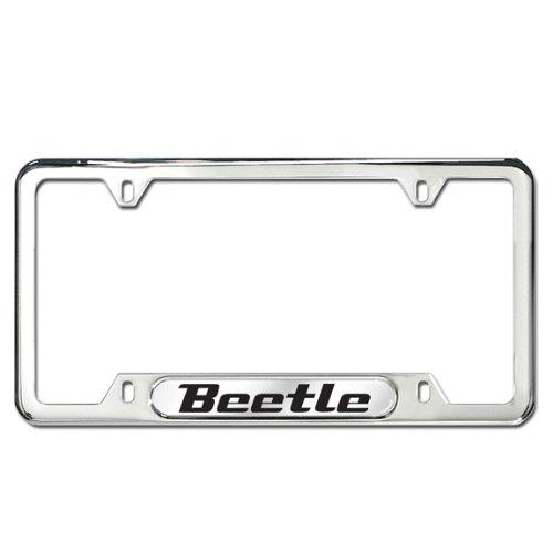 Genuine OEM Volkswagen Beetle Polished Stainless Steel License Plate (Volkswagen Stainless Steel License Plate)