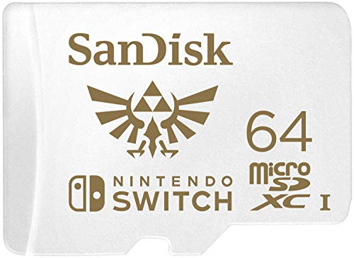SanDisk 64GB MicroSDXC UHS-I Card for Nintendo Switch -SDSQXAT-064G-GNCZN