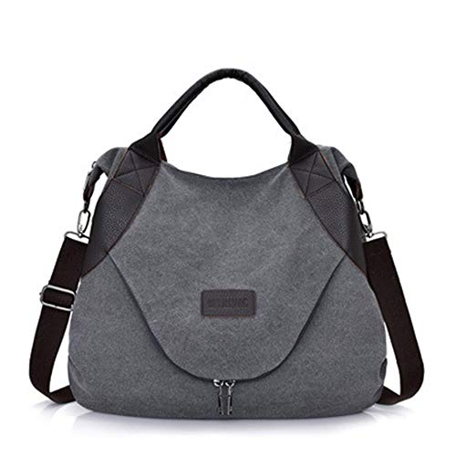 Mobile Messenger lug Bag Postino Nlj Canvas Capacity Casual Large Grigio Retro Fashion AwnUBaWFU