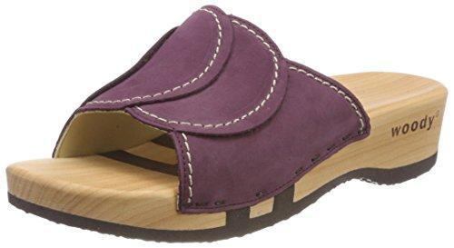 Vanessa 033 prugna Clogs Purple Woody Women HAwqSw4