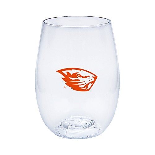 Oregon State Beavers Govino Shatterproof Wine or Beverage Glasses - Boxed set of 4
