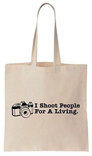 I Shoot People For Living Sacchetto di cotone tela di canapa