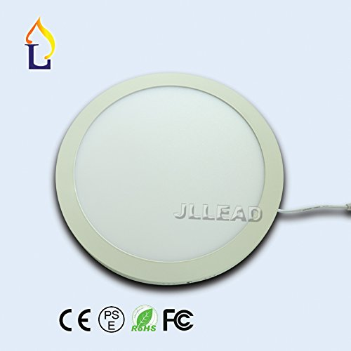 (10 pack) 24W Ultra Thin led panel light round SMD2835 cut hole 205mm ceiling panel light by JLJLEAD