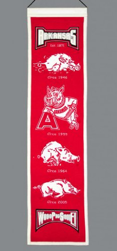 picture of Arkansas Razorbacks Official Wool Heritage Banner by Winning Streak