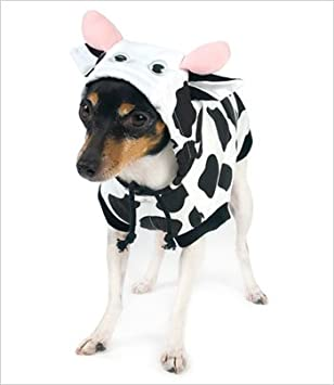 Amazon.com : Cow Costume for Dogs - Size 0 (7.25