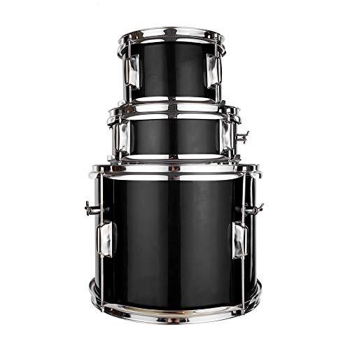 Lovinland 13''x8'' 3-Pieces Junior Kids Child Drum Set Kit Pedal Drum Stick Wrench Drum Stool Black by Lovinland (Image #3)