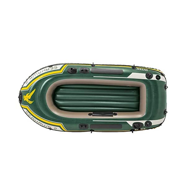 41WY77u0c2L Intex Seahawk 2 Set Schlauchboot - 236 x 114 x 41 cm - 3-teilig - Grün & Motor Mount Kit - Außenbordmotorbefestigung…
