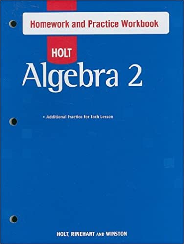 holt algebra 2 homework answers