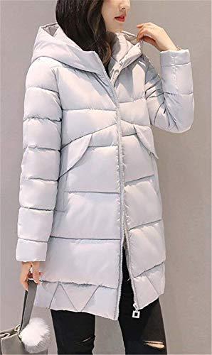 Femmes Longues Down Vestes Grau d'hiver Écrans Down Casual Manteaux d'hiver Warm Air Parkas Hooded Jacket À En Épaissir Plein Élégant Manches zqwpwt